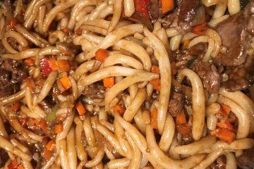 Recette pâtes Udon au Boeuf